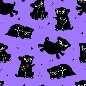 Pug Party Purple (medium)