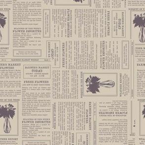 Newsprint - Flower Edition