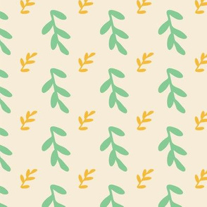 leaves seamless repeat pattern
