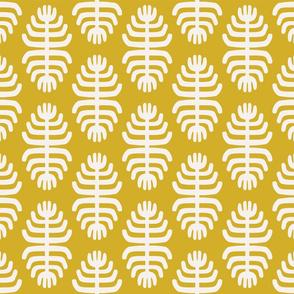 Tribal Flowers   Yellow