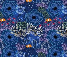 Bioluminous Coral Reef