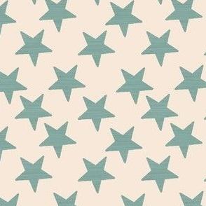 Litle Stars Steel Blue Cream