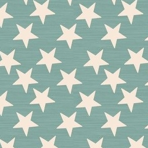Little Stars Steel Blue Linen