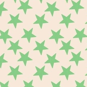 Little Stars Vintage Green Cream
