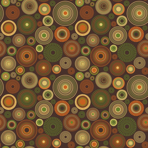 small concentric circles brown