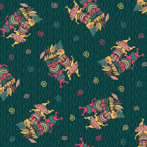 Tropical Tiki party pattern