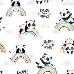 Enjoy Little Things - Panda White BIG