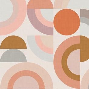 Pastel Modern Geometric Rainbows / Big Scale