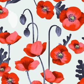 An Appealing Poppy Half-Drop