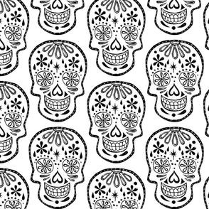 Sugar Skulls - Black on White - Jumbo