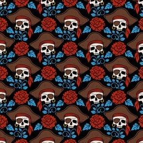 Pirates Skulls Floral