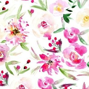 Gardening love ❤ watercolor flowers