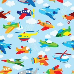 kids airplanes sky clouds