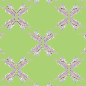 Green Purple Wildflower geometric