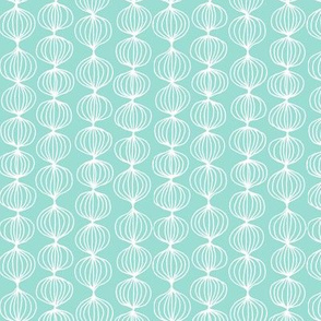 mod ogee - small scale light turquoise