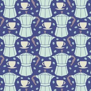 espresso in navy blue by Pippa Shaw