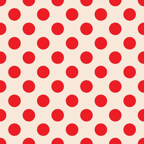 Polka Dots Red Cream