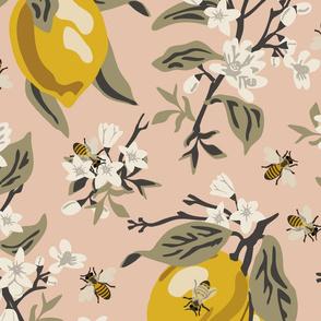 Bees & Lemons - Blush - Jumbo