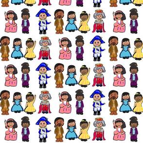 Cartoon cast of Hamilton
