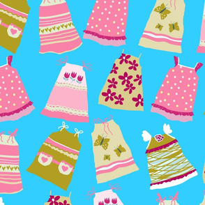 Pillowcase Dresses for Charity blue