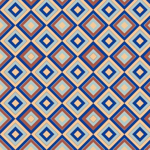 Diamond tiling blue background by kaorina