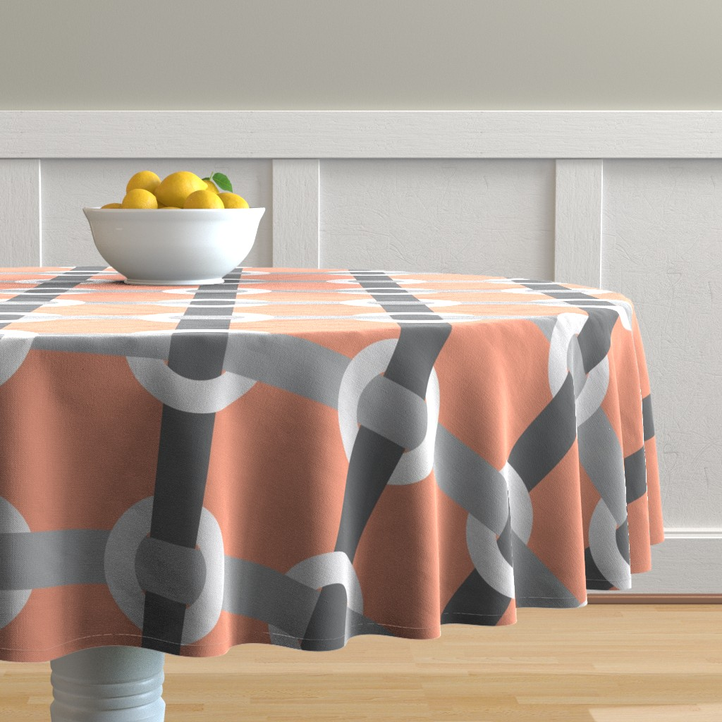Malay Round Tablecloth featuring Madrid-S by cucawik