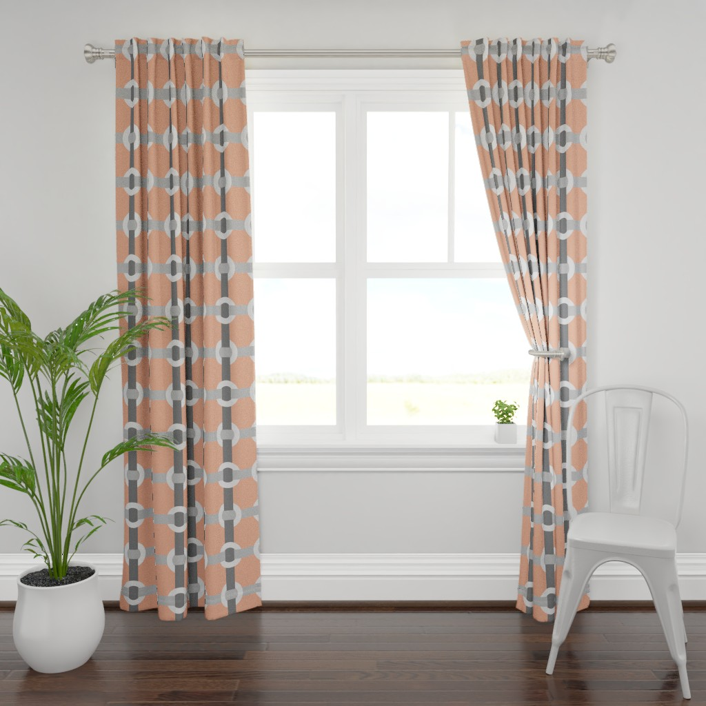 Plymouth Curtain Panel featuring Madrid-S by cucawik