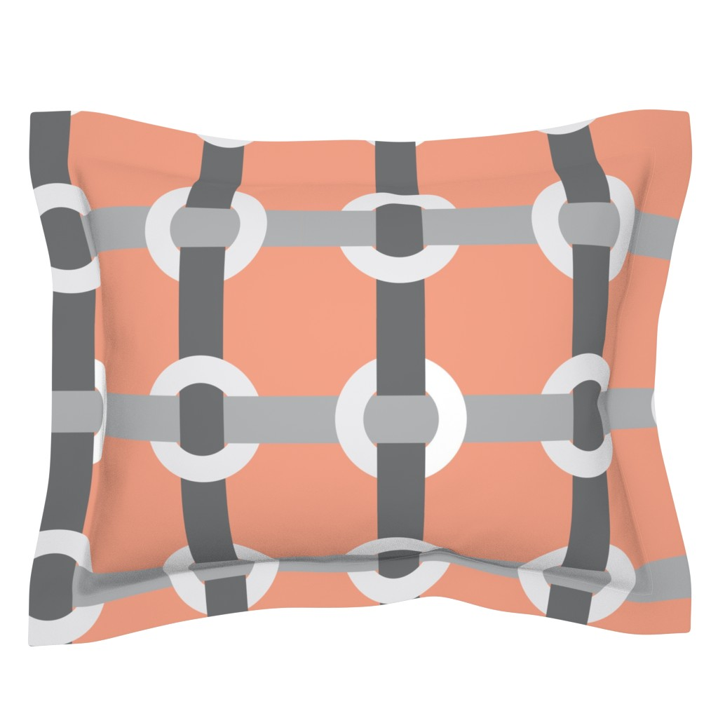 Sebright Pillow Sham featuring Madrid-S by cucawik