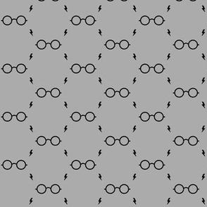 wizard's glasses - gray - potte