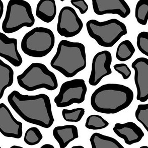 Grey Abstract Animal Print