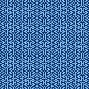 True Blue: Mini Print - GeoFloral -Navy on Light Blue
