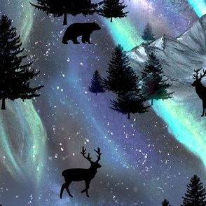 Aurora Borealis LARGE with Polar Bears