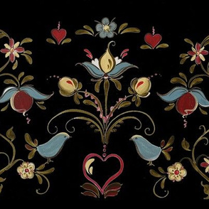 Norwegian Os Rosemaling Inspired