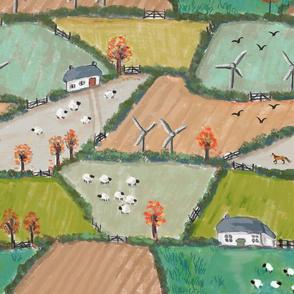 Autumn Cornish Fields LARGE