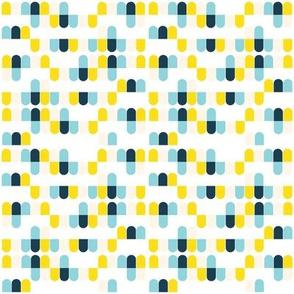 Bert Aqua/Yellow - Small Scale