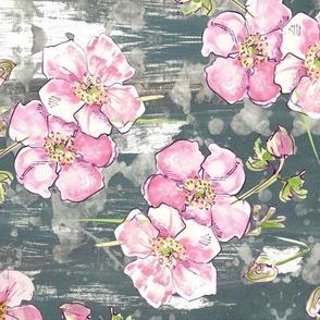 Pretty pastel floral - allover! medium
