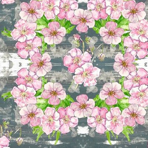 Pretty pastel floral - cubed - medium