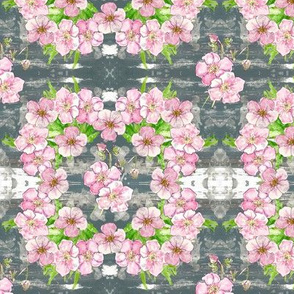 Pretty pastel floral - cubed - small
