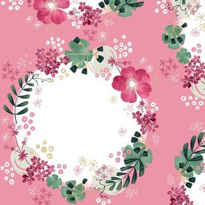 Flower Wreath with Vicia