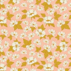 Farmhouse Florals Sktetchbook Flowers Pink White TerriConradDesigns