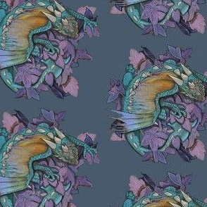 dragon one- teal