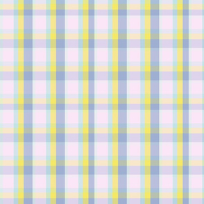 Yoga Blues Plaid Pastel