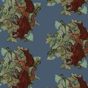 Dragon three-blue