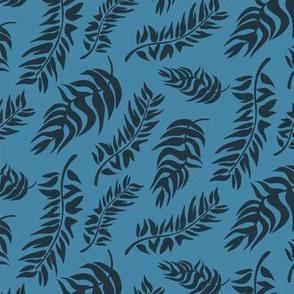 Coastal Leaves blue