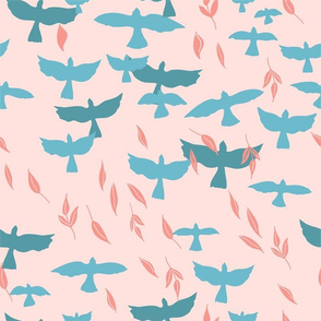 Flock of Birds - Peach