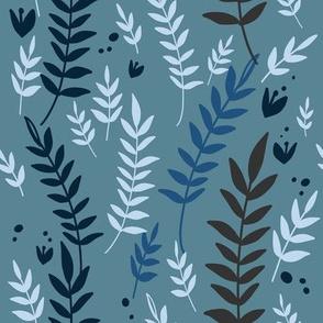 Growing Vines - Blue