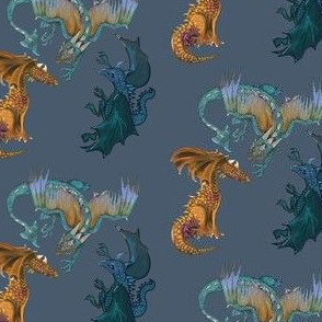 Dragons one through three together-gold