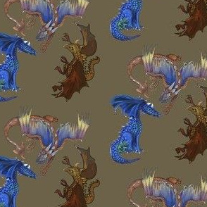 Dragons one through three together-olive