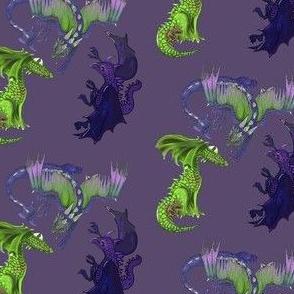 Dragons one through three together-purple