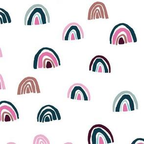 Rainbows - Pink + Teal